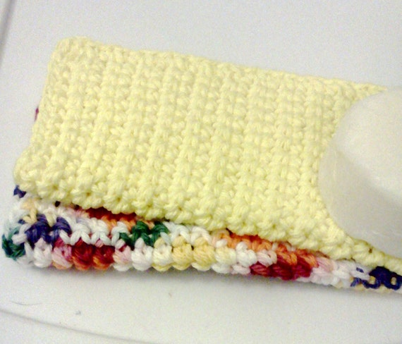 Facial Cloths.....set of 2 in Yellow and Multi