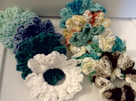 SCRUNCHIES / Hair Ties / Rubber Bands / Elastic Hair Ties / Crochet Hair Ties