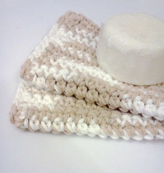 Dish/Facial Cloths.....set of 2 in Cream and White