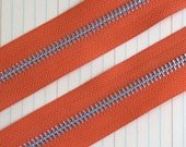 Pumpkin Orange Zipper Trim 1 Yard