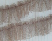 Tulle Pleated Trim Mocha 1 Yard