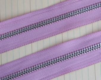 Zipper Trim by the Yard Lilac Pink