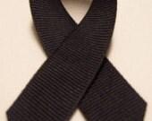 "SALE - Black Grosgrain Ribbon 5/8"" - 50 yard spool"