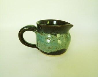 Small Blue Stoneware Pitcher