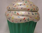 Rainbow Sprinkles Mint Green Crunch Cupcake Jar