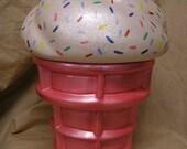Rainbow Sprinkles Cream Cookie Jar