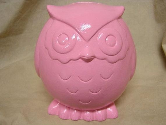 Baby Owl Bank Pink