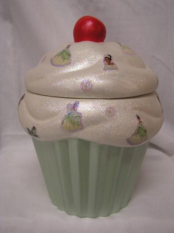 SALE 50% OFF  Princess Tiana Cupcake Jar