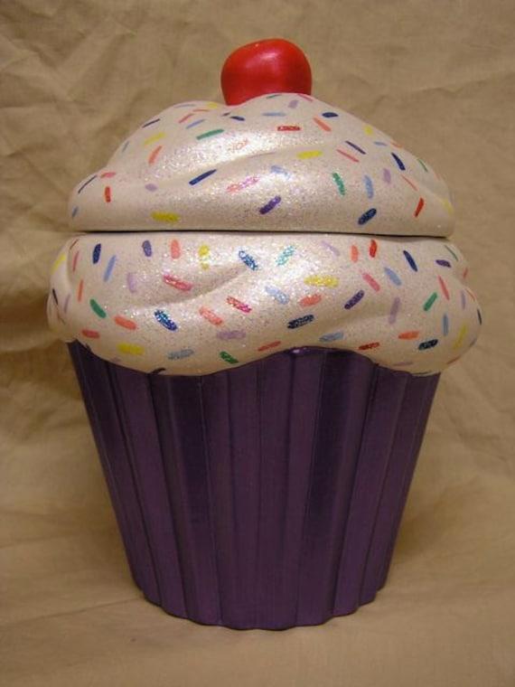 Rainbow Sprinkles Purple Crunch Cupcake Jar