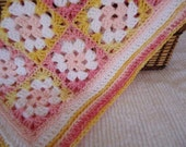 Pink Cuddly Baby Afghan for Little Girls