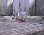 Hemp Necklace with Brecciated Jasper