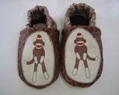 Sock Monkey Soft-Soled Shoes