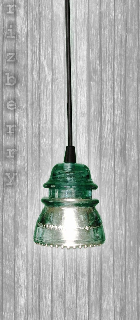 Items similar to repurposed glass insulator pendant light for Insulator pendant light