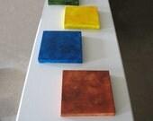Modern Art - Minimalist Art - Living Room Art - Canvas Square - Earth Colours -Burnt Sienna