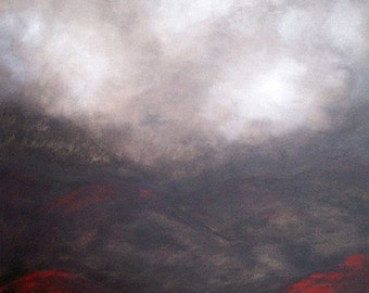 Art  - Contemporary - Abstract - Modern - Mist--Landscape Painting