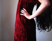 Reserved for Faye ((((((((((((((((((((((SALE  vintage (XS/S) Red Velvet Lace Long Victorian Seductress Dress