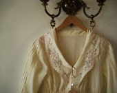 vintage (S/M/L) Lace & Floral Nightgown Cover up