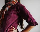 Vintage Boyfriend Flannel in Purple