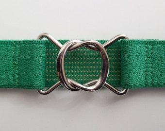 Retro 80s-style Green Elastic Belt