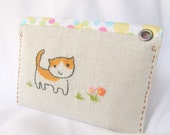 Free shipping! Credit Card and Coin Purse - Handy Pouch,Card case (Pastel Polka-Dots)