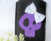 Free shipping! The skull with a bow-Luggage ID