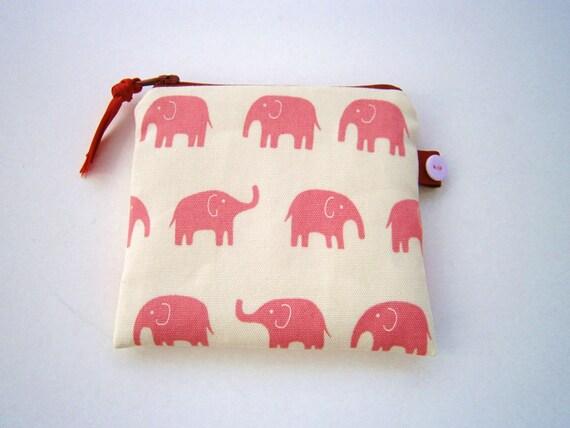 Little Elephants Coin  Purse