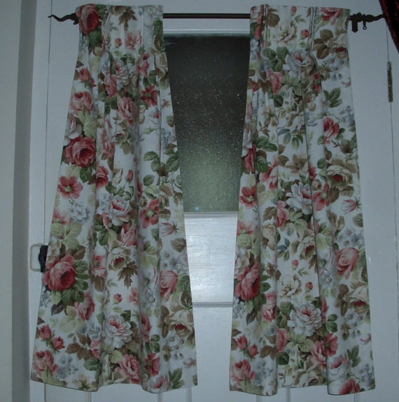 Vintage Curtains Shabby Chic Cottage Style For Small