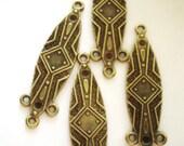 8 Earring  chandelier drops antique gold earring dangles 11.5mm 44.5mm-F3
