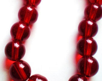 30 Cranberry red beads jewelry supply beads 8mm