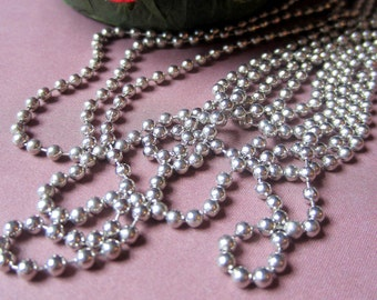 20 ft Ball chain peweter color for pendants diy jewelry making dog tags 2.4mm BC2