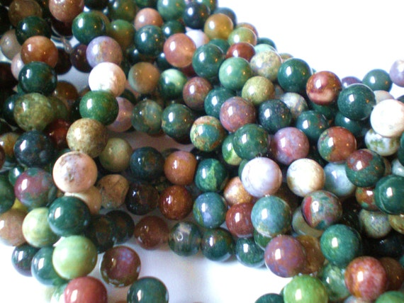 8mm Indian agate beads semiprecious stone jewelry supplies R002 15 inch strand beads