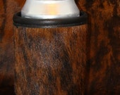 Keep It Icy Cold - Cowhide Can Leather Soda or Beer Insulator - Rich, Rust Brindle