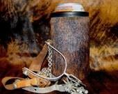 Cowhide Coolie - Beverage Insulator - Beer Holder- Cowhide Beer Holder - Cowhide Beverage Holder - Beer - Tall Boy - Mens Gift - Womens Gift