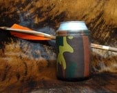 Ultimate Camo Genuine Leather Can Koozie        Keep It Cold