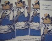 Set Three Queen Alice - Set of 4 Bookmarks (laminated)