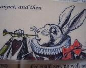 White Rabbit Trumpet and Tarts (laminated) - horizontal