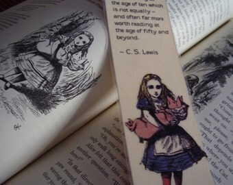 C.S. Lewis and Lewis Carroll Bookmark Three (laminated)