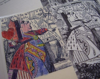 Queen of Hearts Off With Her Head Bookmark (laminated)
