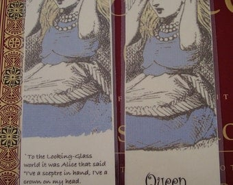 Set One Queen Alice - Set of 4 Bookmarks (laminated)