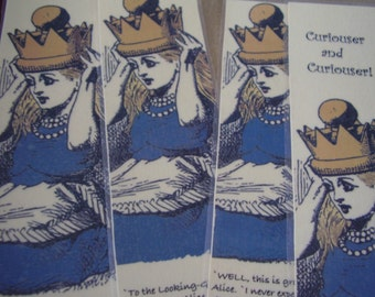Set Three Queen Alice - Set of 4 Bookmarks (laminated)