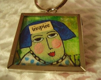 SALE - Inspire Write Out Loud Keychain