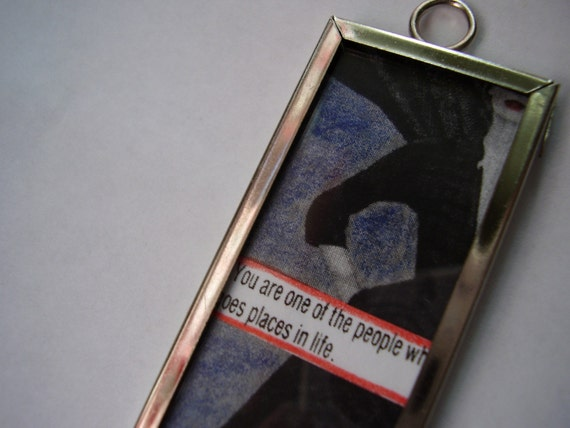 SALE - Going Places Keychain - microscope slide