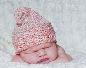 VALENTINE KNIT Kiss HAT for Baby, Red or Pink Acrylic Yarn, Photography Prop