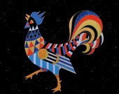 ZODIAC ROOSTER ART - Chinese Zodiac Animals by Thailan When