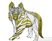WOLF LINE DRAWING- Art by Thailan When