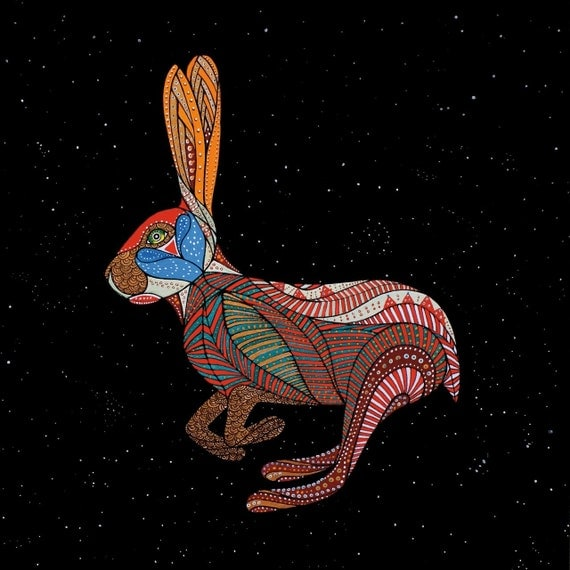 ZODIAC RABBIT ART - Chinese Zodiac Animals by Thailan When
