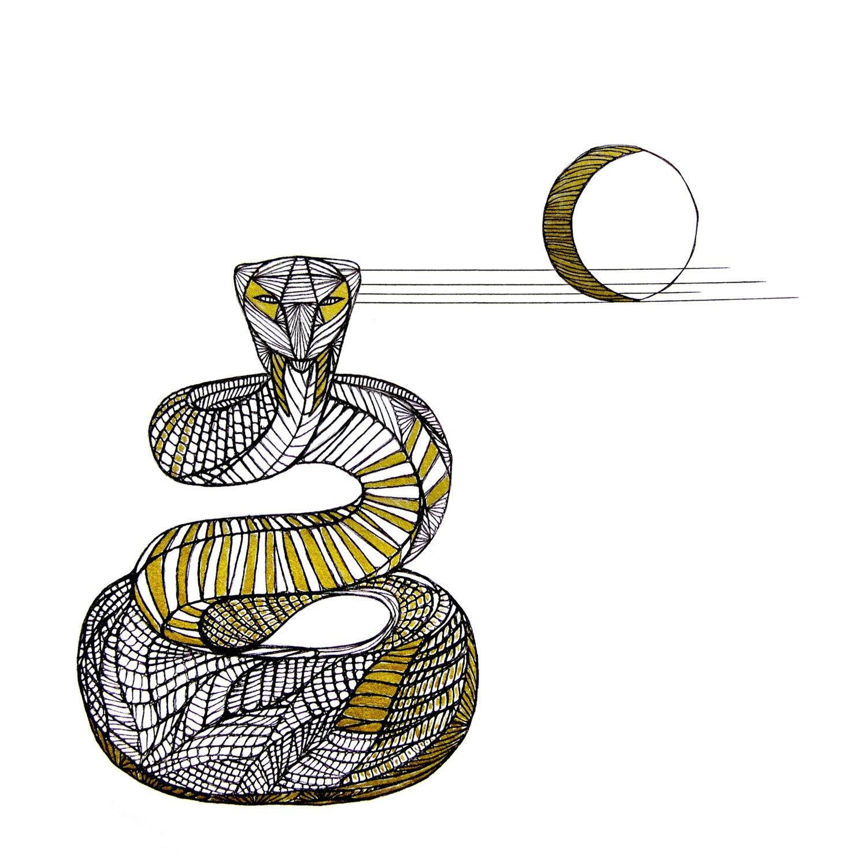 Line Art Snake : Snake line drawing art by thailan when