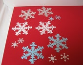 Reserved for theenchantedcupboard-Set of GLITTER snowflakes