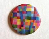mirror / Tiny mirror / Handmade Mirror / pocket accessory / Pocket Mirror / colorful Mirror / Squares Mirror / Pattern