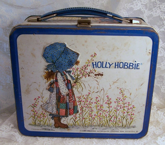 Collectible Holly Hobbie Vintage Metal Lunchbox